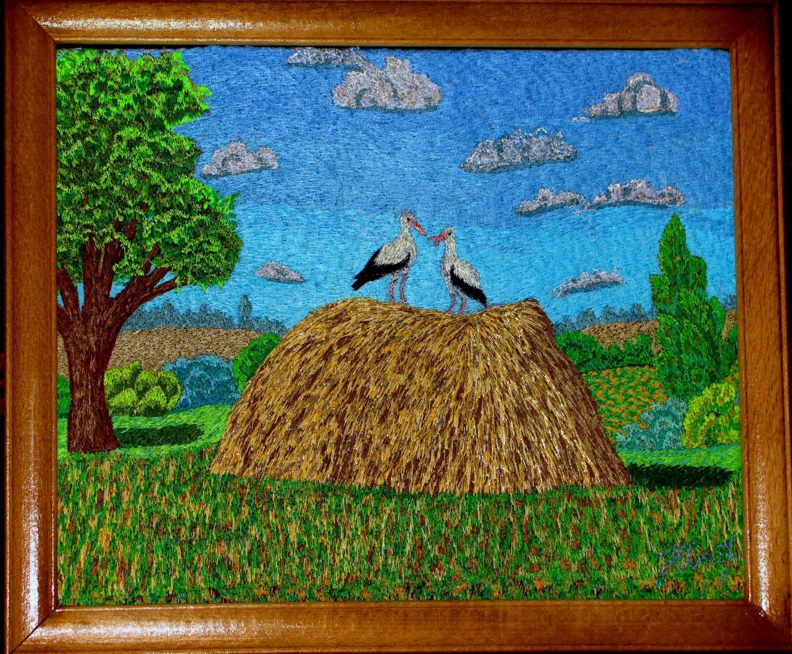 Вышивка художественной гладью картины 332